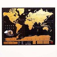 Эксклюзивная скретч карта Truemap Black Edition- карта со стирающимся покрытием