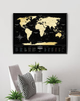 СКРЕТЧ КАРТА МИРА Travel Map Black World