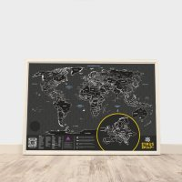 Скретч карта мира Truemap Plus Black