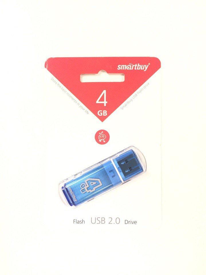 Флешка 4GB Smartbuy Glossy USB 2.0 - 2