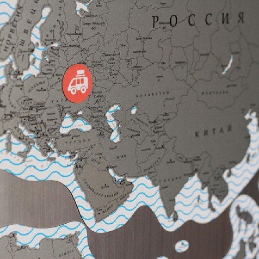 """Магнитная карта мира со скретч-слоем """"True Map Puzzle"""" - 3"""