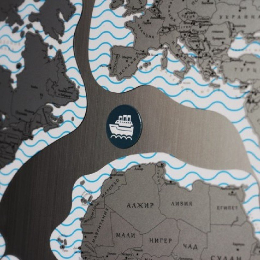 """Магнитная карта мира со скретч-слоем """"True Map Puzzle"""" - 4"""
